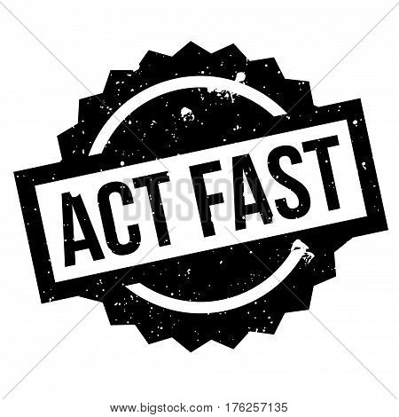 Act Fast rubber stamp. Grunge design with dust scratches. Effects can be easily removed for a clean, crisp look. Color is easily changed.