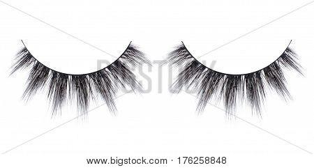 backgrounds, isolated, false, eyelash, white, people, close-up, macro, beauty, make-up, isolated-background