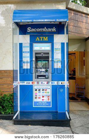 Sacombank Atm Machine In Saigon, Vietnam