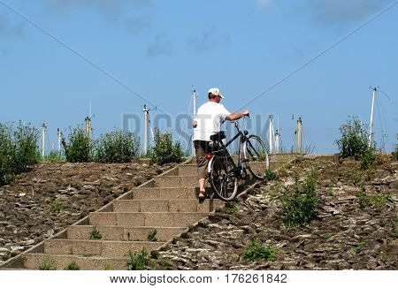Biking On The Dike Of Colijnsplaat