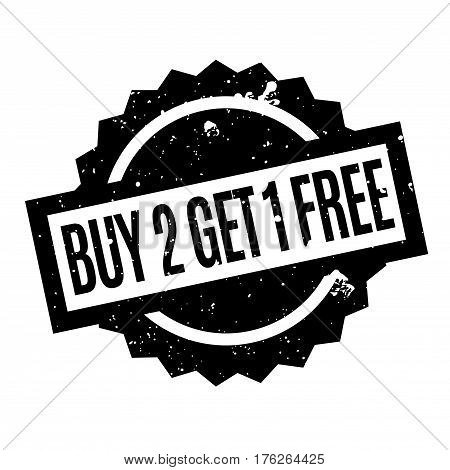 Buy 2 Get 1 Free rubber stamp. Grunge design with dust scratches. Effects can be easily removed for a clean, crisp look. Color is easily changed.