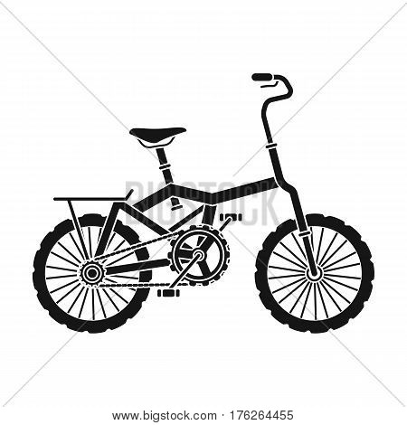 Little orange children s bicycle. Bicycles for children and a healthy lifestyle.Different Bicycle single icon in black style vector symbol stock web illustration.
