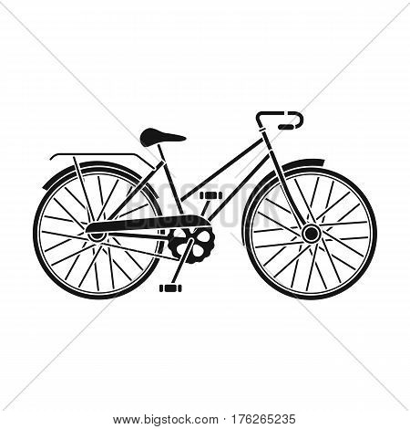 Little yellow children s bicycle. Bicycles for children and a healthy lifestyle.Different Bicycle single icon in black style vector symbol stock web illustration.