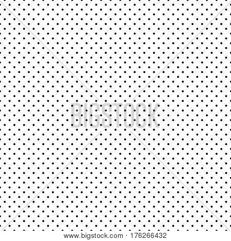 Vector monochrome seamless pattern, polka dot texture, small circles & spots. Simple geometric background, abstract black & white texture, repeat tiles. Design for print, textile, decoration, fabric, clothes, linens, furniture
