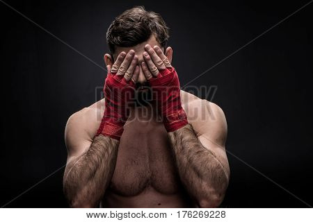 Boxer With Wrapping Hands