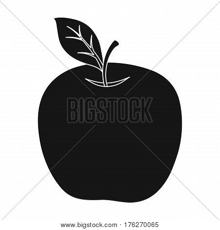 Red Apple. Snack at school. Lunch at the break.School And Education single icon in black style vector symbol stock web illustration.