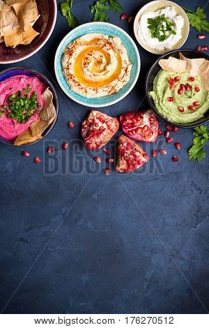 Colorful Hummus Bowls