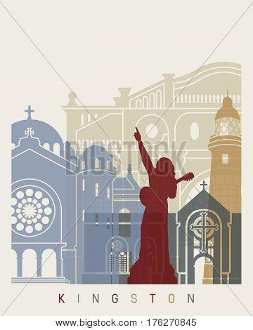 Kingston Skyline Poster