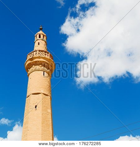 In Iran    Minaret Near The  Sky