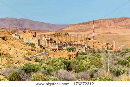 View of Boumalne Dades city near the Dades Gorges, Morocco
