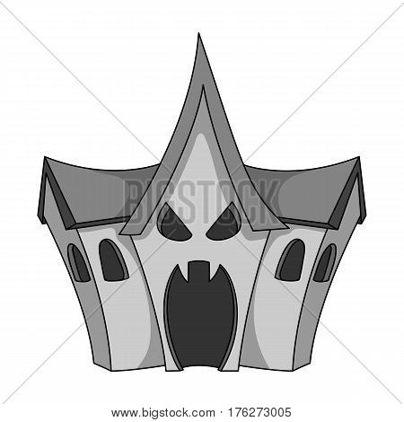 A haunted house, a room of fear in an amusement park. Attraction for the fearless.Amusement park single icon in monochrome style vector symbol stock web illustration.