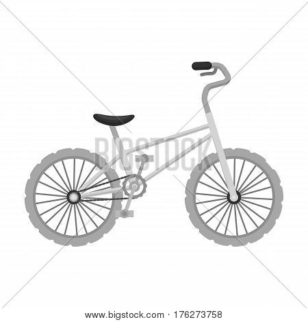 BMX Cyclist Bicyclist Athletes Sportsman. Bike for jumps and athletes.Different Bicycle single icon in monochrome style vector symbol stock web illustration.
