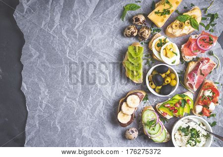 Sandwiches Set Background