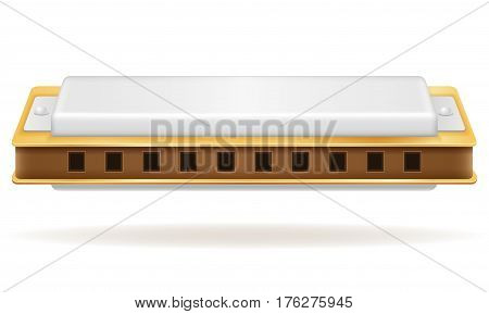 harmonica wind musical instruments stock vector illustration isolated on white background