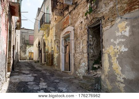 Small Country In The Southern Of Italy.