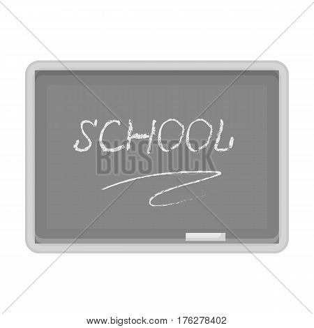 Blackboard with chalk and pointer . Board for classes.School And Education single icon in monochrome style vector symbol stock web illustration.