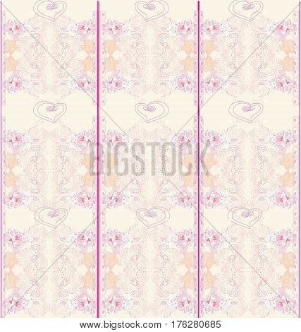 floral pink seamless patterns , vector illustration