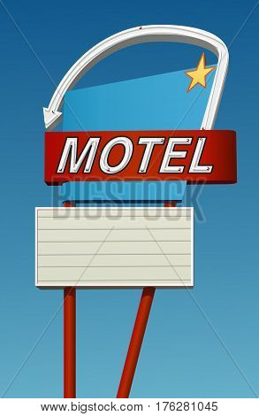 vintage style sign with copy space. Sky is removable in vector version