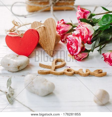 Two Hearts And Message Love