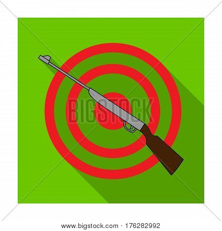 Weapon and target. Shooting gallery in an amusement park.Amusement park single icon in flat style vector symbol stock web illustration.