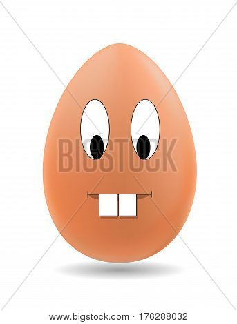 Illustration of egg with expressions. Vector EPS