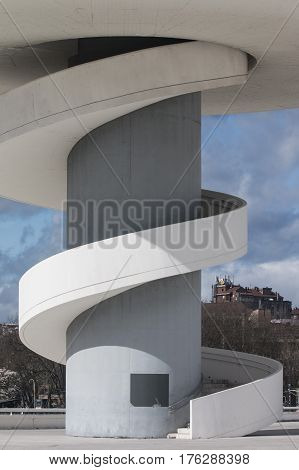 Part of a building of Niemeyer´s Centre in Avilés