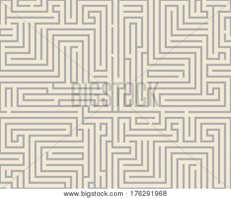Intricacy maze labyrinth seamless pattern background design template vector illustration
