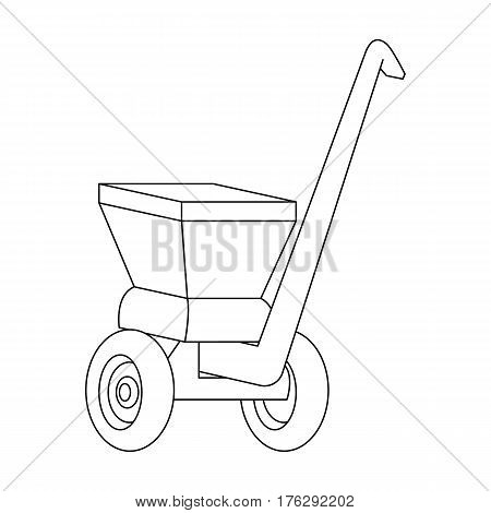 Agricultural Machinery .The machine for cutting agricultural hay.Agricultural Machinery single icon in outline style vector symbol stock web illustration.