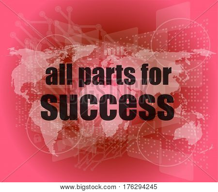 All Parts For Success Text On Digital Touch Screen Interface