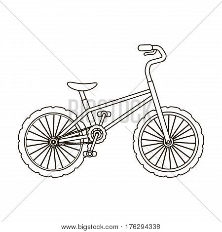 BMX Cyclist Bicyclist Athletes Sportsman. Bike for jumps and athletes.Different Bicycle single icon in outline style vector symbol stock web illustration.