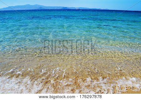Kastraki beach at Naxos island Cyclades Greece