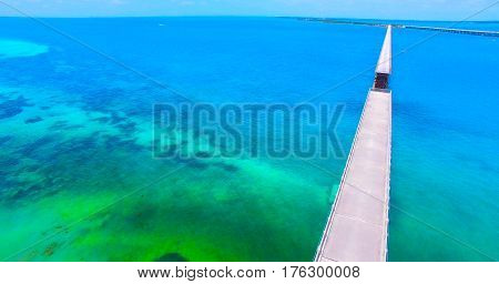 Bahia Honda state park, Key West, 7 miles bridge. Florida