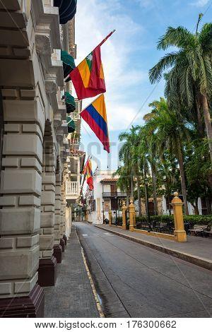 Plaza De Bolivar In Cartagena