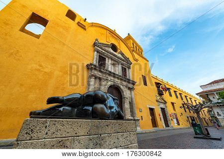 Statue And Santo Domingo Church