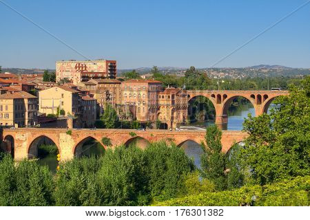 Vue on the city of Albi France
