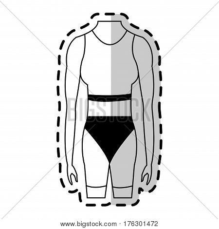 female torso fit body icon image vector illustration design