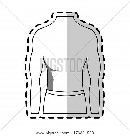 male torso fit body icon image vector illustration design