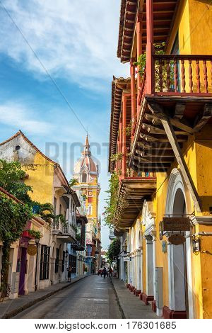 Cartagena, Colombia And Cathedral