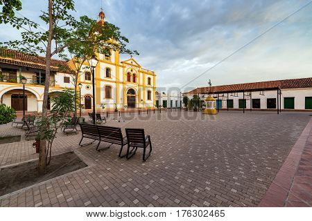 Plaza And Church In Mompox