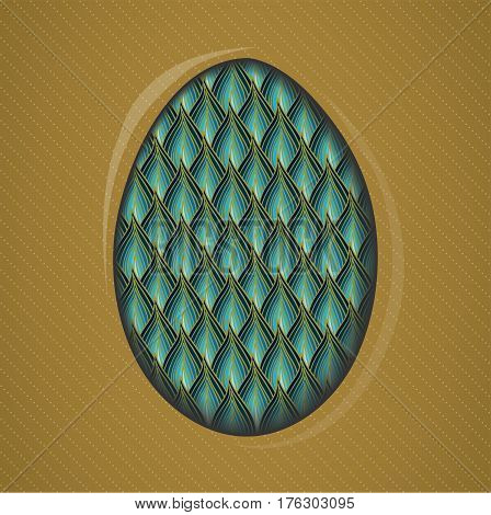 Colorful easter eggs gift card. Illustration 10 version
