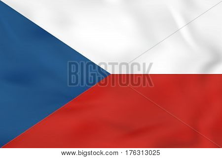 Czech Republic Waving Flag. Czech Republic National Flag Background Texture.