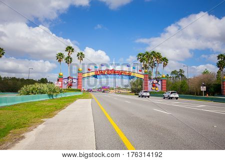 USA. FLORIDA. ORLANDO. MARCH - 11, 2017: Entrance Walt Disney World