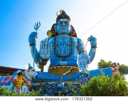Sitting Statue of Lord Shiva Siva God at Koneswaram Temple, Trincomalee, Sri Lanka