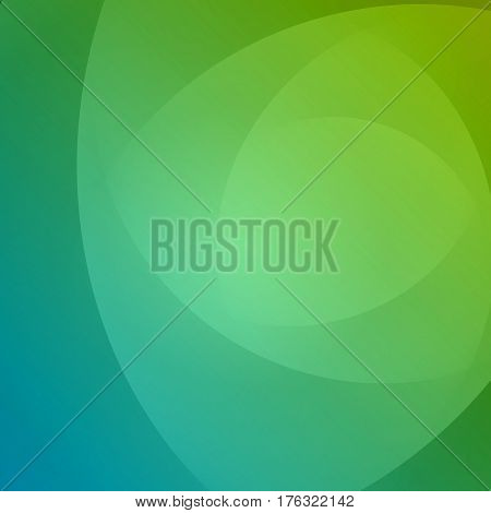 Smooth light blue green waves lines vector abstract bacground. Good for promotion materials, brochures, banners. Abstract Backdrop, Technology Background.