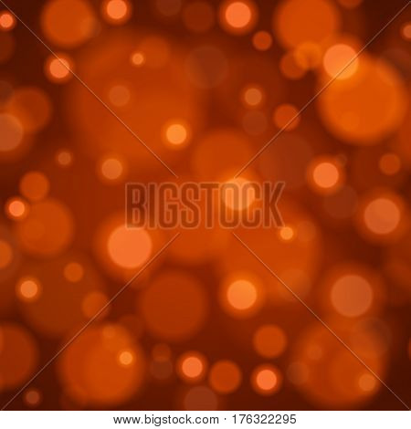 Abstract Light Orange Bokeh Background Vector Illustration. Magic Defocused Glitter Sparkles. Good for promotion materials, Brochures, Banners. Abstract Backdrop.