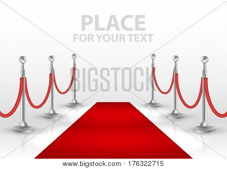 red event carpet isolated on a white background. vector illustration EPS10