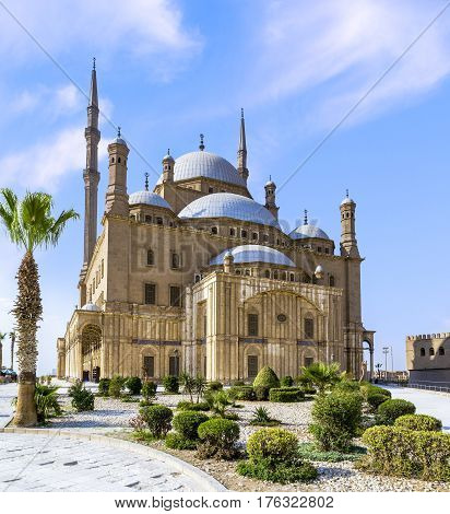 The Mohamed Ali mosque located in the Saladin Citadel on the Mokkatam hill in Cairo.