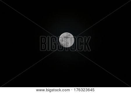 Full moon at night sky / The moon at dark night.