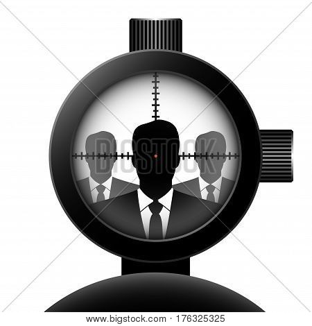 optical sight. Vector concept illustration for design.