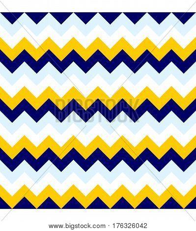 Chevron pattern seamless vector arrows geometric design colorful white aqua yellow naval blue